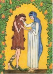 In a way, Mary, like a second Eve, undid for the first Eve what the second Adam (Jesus) did for the first Adam.
